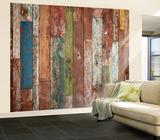 Weathered Wood Wall Mural Mural de papel de parede