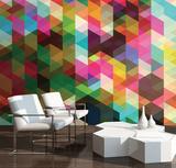 Geometrix Wall Mural Mural de papel de parede