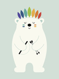 Be Brave Polar Giclée-Druck von Andy Westface