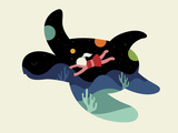 Ocean Roaming Giclée-tryk af Andy Westface