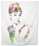 Audrey Hepburn 2 Tapestry by  NaxArt