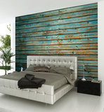 Washed Timber Wall Mural Mural de papel de parede