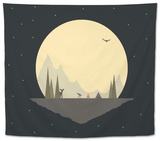 Stop for the Night Tapestry by Tammy Kushnir