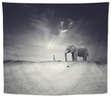 Walk with Me Tapestry by Luis Beltran