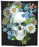 Watercolor Human Skull Tapestry by  tanycya