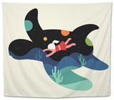 Ocean Roaming Tapestry by Andy Westface