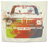 Bmw 2002 Front Watercolor 2 Tapestry by  NaxArt