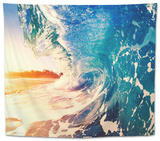 Ocean Wave at Sunrise Tapestry by  EpicStockMedia