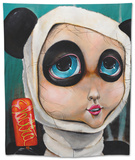 Panda Girl Tapestry by Coco Electra