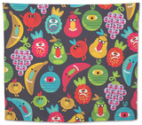 Cute Monsters Seamless Texture Tapestry by  panova