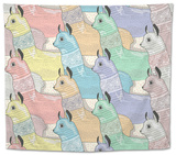 Seamless Pattern with Cute Lamas or Alpacas for Children or Kids Tapestry by cherry blossom girl