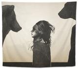 Unusual Encounter Tapestry by Ruben Ireland