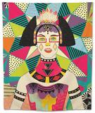 Star of Wander Tapestry by Diela Maharanie