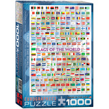Flags of the World 1000 Piece Puzzle Jigsaw Puzzle