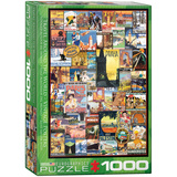 Travel Around the World Vintage Posters 1000 Piece Puzzle Jigsaw Puzzle
