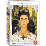Self-Portrait with Thorn Necklace and Hummingbird by Frida Kahlo 1000 Piece Puzzle Jigsaw Puzzle