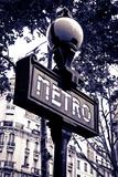 Metro Sign, Paris, France Reproduction photographique par Russ Bishop