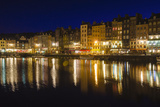 Honfleur Harbor at Night, Normandy, France Reproduction photographique par Russ Bishop