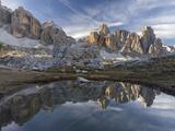 The Fanis Mountains Seen from Val Travenanzes , the Dolomites Near Cortina D'Ampezzo Fotografisk trykk av Martin Zwick