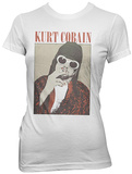 Women's: Kurt Cobain- Smoking Pastel T-Shirts