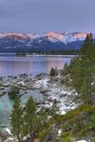 California, Lake Tahoe. Lake Overview at Sunrise Fotoprint van Jaynes Gallery