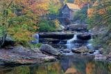West Virginia, Babcock State Park. Glade Creek Grist Mill Fotoprint van Jaynes Gallery