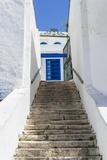 Street, Sidi Bou Said, Tunisia, North Africa Fotografisk tryk af Nico Tondini
