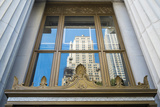 Reflection of a Building in a Window, New York City, New York, Usa Photographic Print by Julien McRoberts