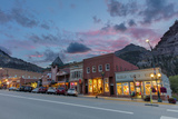 Dusk Light on Main Street in Ouray, Colorado, Usa Photographic Print by Chuck Haney