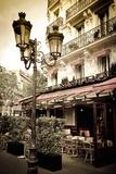 Le Metro Restaurant, Left Bank, Paris, France Reproduction photographique par Russ Bishop