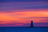 Ludington North Pierhead Lighthouse at Sunset on Lake Michigan, Mason County, Ludington, Michigan Reproduction photographique Premium par Richard and Susan Day