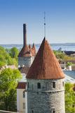 View of Tallinn from Toompea Hill, Old Town of Tallinn, Estonia, Baltic States Photographic Print by Nico Tondini