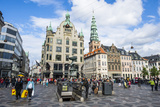 Amagertorv, Amager Square, Part of the Stroget Pedestrian Zone, Copenhagen, Denmark Photographic Print by Michael Runkel