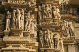 Erotic Sculptures of Khajuraho, Madhya Pradesh, India Photographic Print by Jagdeep Rajput