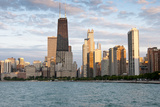 Chicago Skyline from North Avenue Beach at Dusk Photographic Print by Alan Klehr