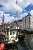 Fishing Boats in Nyhavn, 17th Century Waterfront, Copenhagen, Denmark Fotografisk trykk av Michael Runkel