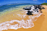 Larsen's Beach, North Shore, Island of Kauai, Hawaii Reproduction photographique par Russ Bishop