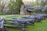 John Oliver Cabin in Spring, Cades Cove Area, Great Smoky Mountains National Park, Tennessee Reproduction photographique par Richard and Susan Day