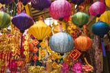Vietnam, Hanoi. Tet Lunar New Year, Holiday Decorations for Sale Fotografie-Druck von Walter Bibikow