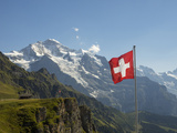 Switzerland, Bern Canton, Mannlichen, the Jungfrau Reproduction photographique par Jamie And Judy Wild