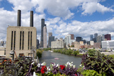 Chicago Skyline and River Looking North Photographic Print by Alan Klehr