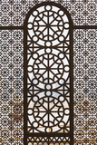 Qatar, Doha, Abdul Wahhab Mosque, the State Mosque of Qatar, Window Detail Premium fotografisk trykk av Walter Bibikow