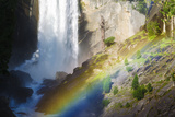 Vernal Falls and Hikers on the Mist Trail, California, Usa Reproduction photographique par Russ Bishop