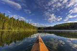 Kayaking on Beaver Lake in the Stillwater State Forest Near Whitefish, Montana, Usa Photographic Print by Chuck Haney