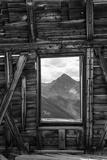 Colorado. Abandoned Mining Building with View of Wilson Peak Fotoprint van Jaynes Gallery