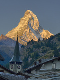 Switzerland, Zermatt, the Matterhorn, View from Zermatt Reproduction photographique par Jamie And Judy Wild