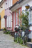 Denmark, Jutland, Aalborg, Houses Along Hjelmerstald Street Lámina fotográfica por Walter Bibikow