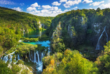 Travertine Cascades on the Korana River, Plitvice Lakes National Park, Croatia Reproduction photographique par Russ Bishop