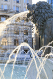 Macedonia, Skopje, Macedonia Square Fountain, Alexander the Great Reproduction photographique par Emily Wilson