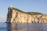 Italy, Sardinia, Capo Caccia Headland with Lighthouse 610 Feet Off Water Reproduction photographique par Trish Drury